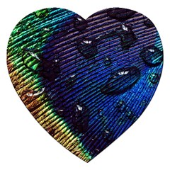 Peacock Feather Retina Mac Jigsaw Puzzle (heart) by BangZart