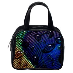 Peacock Feather Retina Mac Classic Handbags (one Side) by BangZart