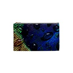 Peacock Feather Retina Mac Cosmetic Bag (small)