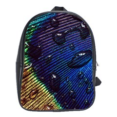Peacock Feather Retina Mac School Bags(large)