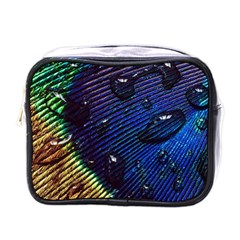 Peacock Feather Retina Mac Mini Toiletries Bags