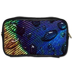 Peacock Feather Retina Mac Toiletries Bags
