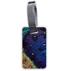 Peacock Feather Retina Mac Luggage Tags (one Side)  by BangZart