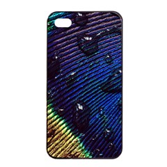 Peacock Feather Retina Mac Apple Iphone 4/4s Seamless Case (black) by BangZart