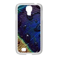 Peacock Feather Retina Mac Samsung Galaxy S4 I9500/ I9505 Case (white) by BangZart