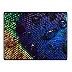 Peacock Feather Retina Mac Double Sided Fleece Blanket (small)  by BangZart