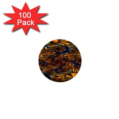Pattern Bright 1  Mini Buttons (100 Pack)