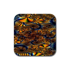 Pattern Bright Rubber Square Coaster (4 Pack)  by BangZart