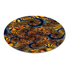 Pattern Bright Oval Magnet by BangZart