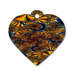Pattern Bright Dog Tag Heart (two Sides) by BangZart