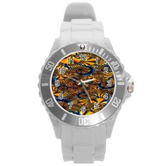 Pattern Bright Round Plastic Sport Watch (l) by BangZart