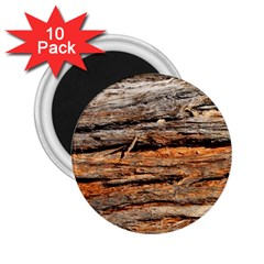 Natural Wood Texture 2 25  Magnets (10 Pack)