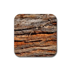 Natural Wood Texture Rubber Square Coaster (4 Pack)  by BangZart