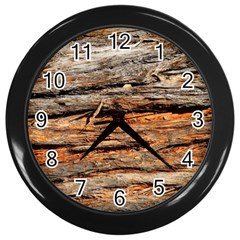 Natural Wood Texture Wall Clocks (black)