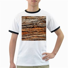 Natural Wood Texture Ringer T Shirts