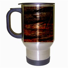 Natural Wood Texture Travel Mug (silver Gray) by BangZart
