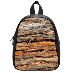 Natural Wood Texture School Bags (small)  by BangZart