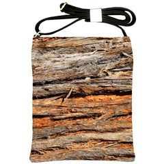 Natural Wood Texture Shoulder Sling Bags by BangZart