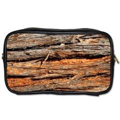 Natural Wood Texture Toiletries Bags by BangZart