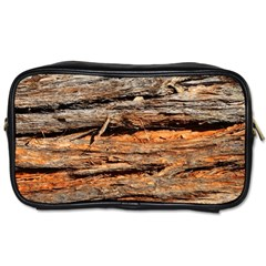 Natural Wood Texture Toiletries Bags 2 Side by BangZart