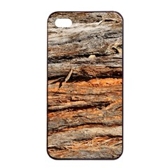 Natural Wood Texture Apple Iphone 4/4s Seamless Case (black) by BangZart