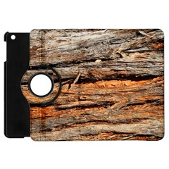 Natural Wood Texture Apple Ipad Mini Flip 360 Case by BangZart