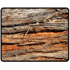 Natural Wood Texture Double Sided Fleece Blanket (medium)  by BangZart