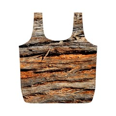 Natural Wood Texture Full Print Recycle Bags (m)  by BangZart