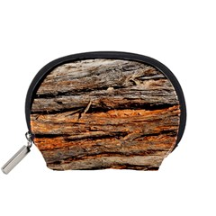 Natural Wood Texture Accessory Pouches (small)