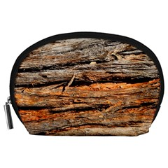Natural Wood Texture Accessory Pouches (large)