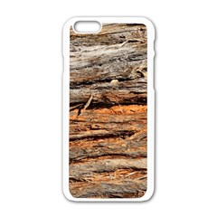 Natural Wood Texture Apple Iphone 6/6s White Enamel Case by BangZart