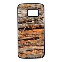 Natural Wood Texture Samsung Galaxy S7 Black Seamless Case