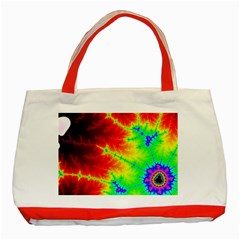 Misc Fractals Classic Tote Bag (red)