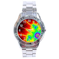 Misc Fractals Stainless Steel Analogue Watch by BangZart