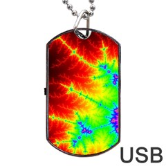 Misc Fractals Dog Tag Usb Flash (two Sides) by BangZart