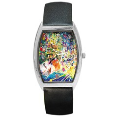 Multicolor Anime Colors Colorful Barrel Style Metal Watch