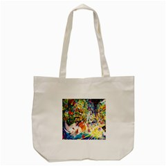 Multicolor Anime Colors Colorful Tote Bag (cream)