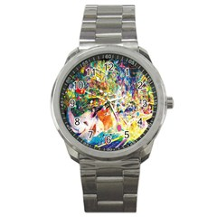 Multicolor Anime Colors Colorful Sport Metal Watch by BangZart