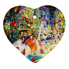 Multicolor Anime Colors Colorful Heart Ornament (two Sides) by BangZart