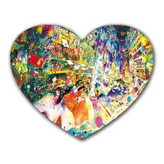 Multicolor Anime Colors Colorful Heart Mousepads by BangZart