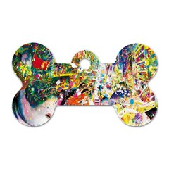 Multicolor Anime Colors Colorful Dog Tag Bone (two Sides) by BangZart