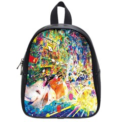 Multicolor Anime Colors Colorful School Bags (small)  by BangZart