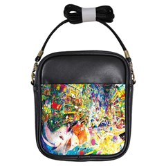 Multicolor Anime Colors Colorful Girls Sling Bags by BangZart