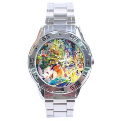 Multicolor Anime Colors Colorful Stainless Steel Analogue Watch by BangZart