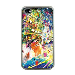 Multicolor Anime Colors Colorful Apple Iphone 4 Case (clear)