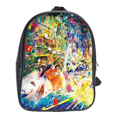 Multicolor Anime Colors Colorful School Bags (xl)  by BangZart