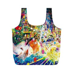 Multicolor Anime Colors Colorful Full Print Recycle Bags (m)