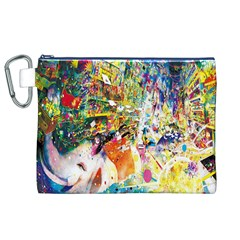 Multicolor Anime Colors Colorful Canvas Cosmetic Bag (xl) by BangZart
