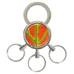 Nature Leaves 3 Ring Key Chains