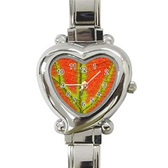 Nature Leaves Heart Italian Charm Watch by BangZart